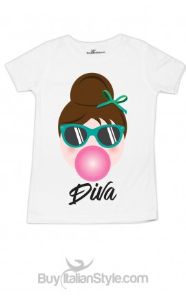 t-shirt bimba audrey mini diva con big-bouble