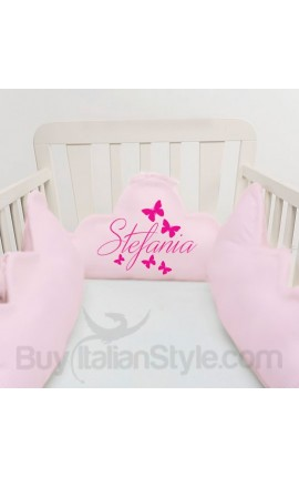 Customizable baby bumper with butterflies