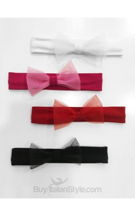 Hair bands with tulle bow