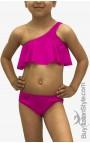 """Bikini Volant bimba """"Personalizzabile con nome più coroncina"""""""