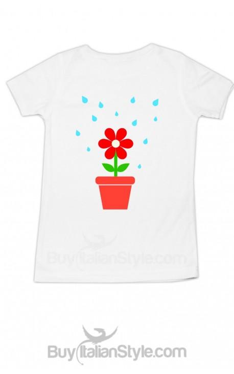 """T-shirt bimbo/a """"La vita che sboccia"""""""