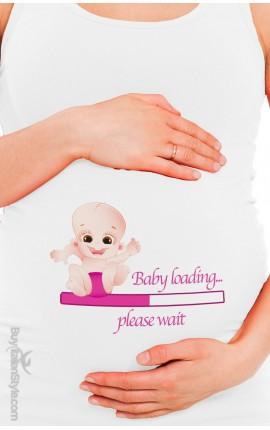 "Maternity tank top ""Baby loading"""