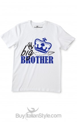 "T-shirt bimbo con scritta ""Big-brother"""