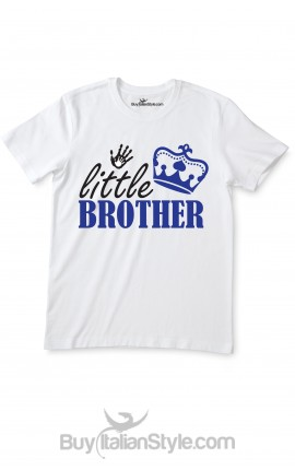 "T-shirt bimbo con scritta ""Little-Brother"""