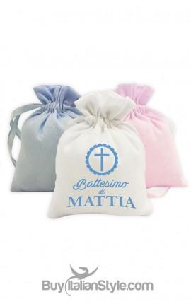 sacchetti per confetti battesimo personalizzabili