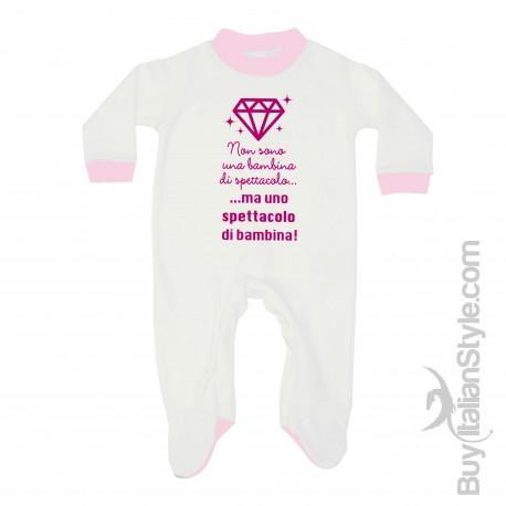 Tutina neonata bimba di spettacolo