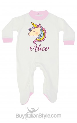 "Newborn all in one ""Unicorn"" customizable with name"