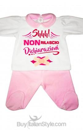 """Tutina neonata """"shh non rilascio dichiarazioni"""""""