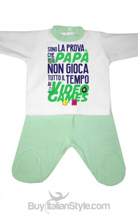 """Chenille baby set """"Dad and Video Games"""""""