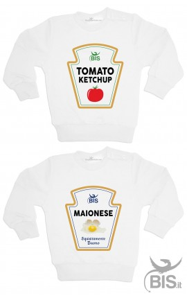 "Coppia felpe gemelli ""Maionese e Ketchup"""