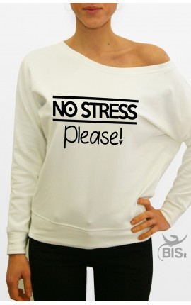 "Felpa donna ""No stress please"""