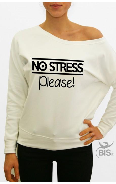 "Felpa donna ""No stress please"""