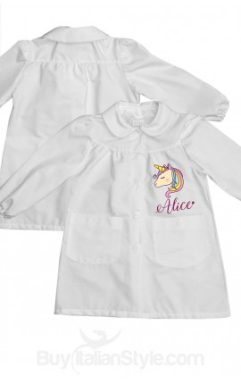 Personalized School Apron - Name & Unicorn