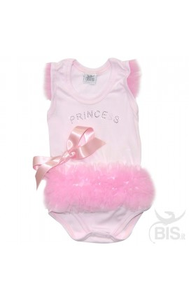 body neonata princess con tulle