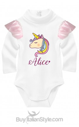 Personalized Unicorn knit turtleneck Bodysuit