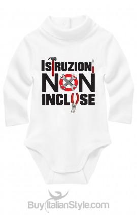 body neonato con stampa istruzioni non incluse