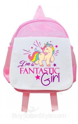 zaino asilo unicorno i'm fantastic girl