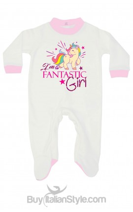 "Baby Girl all in one""I'm a Fantastic Girl"""