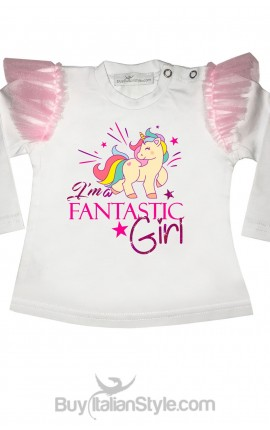 t-shit bimba unicorno i'am fantastic girl