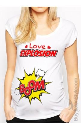 "maternity t-shirt ""love explosion"""