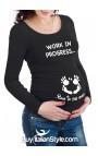 "Maternity t-shirt ""work in progress"""