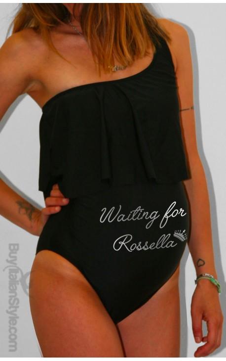 PERSONALIZED Ruffle Maternity Swimsuit