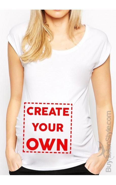 Customizable maternity t-shirt