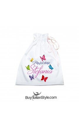Colour butterflies bag to be customized by name.