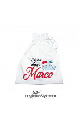 bag wearing newborn clothes