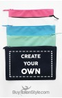 Personalized Canvas Pochette with text message or photo