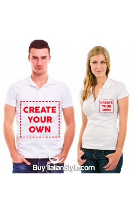 Women / Man customizable Polo t-shirt