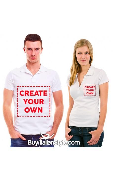 Women / Man customizable Polo t-shirt