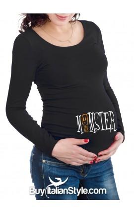 "T-shirt premaman ""Momster """