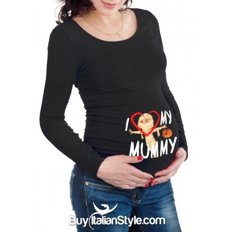 "T-shirt premaman ""I love my mummy """