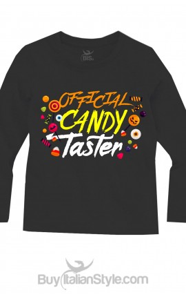 "Maglia bimbo halloween ""Official candy taster"""