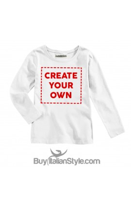 Long sleeve T-shirt CUSTOMIZABLE with text