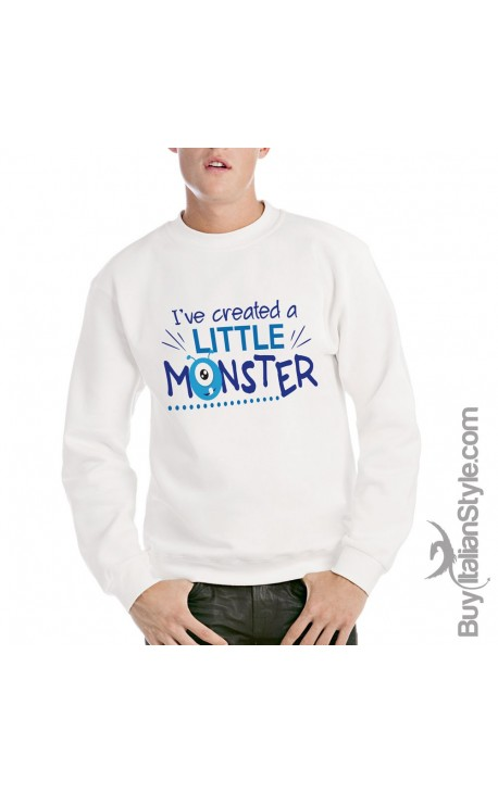 "Men's Sweater ""I've created a little monster"""