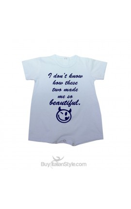 """Summer baby romper """"I don't know how these twomade me so beautiful!"""