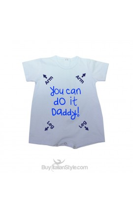 """Baby romper """"You can do it daddy"""""""