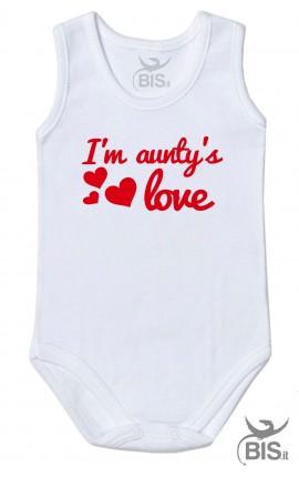 "Half sleeve baby Bodysuit ""I am aunty's love"""