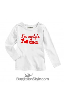 "Long Sleeve T-SHIRT ""I am aunty's love"""