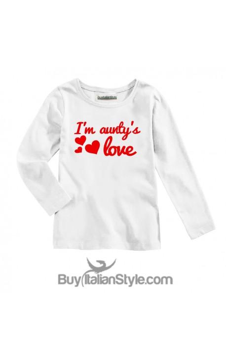 "Long Sleeve T-SHIRT ""I am aunty's love"""