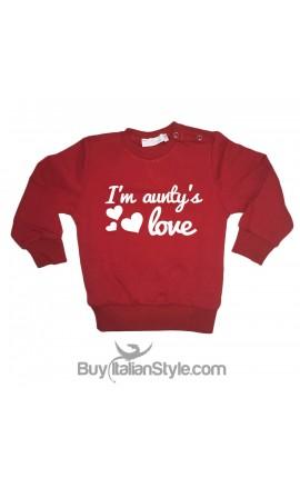 "Sweatshirt ""I am aunty's love"""