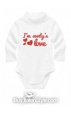 """Knit tourtle neck body suit """"I am aunty's love"""""""