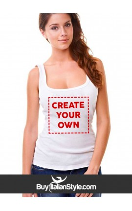 Customized women's tank top