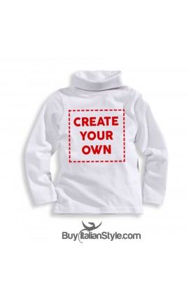 PERSONALIZED knit tourtle neck t-shirt