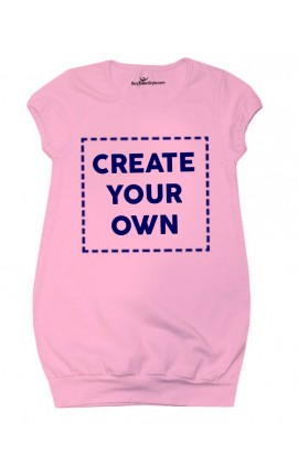 CUSTOMIZED baby dress with phrase or photo