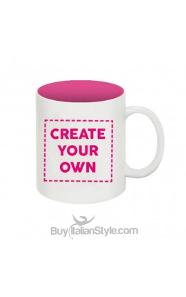 Customizable unbreakable plastic mug with text and photo