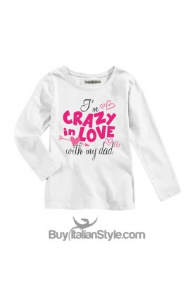 "Baby t-shirt ""Crazy in love with my dad"""