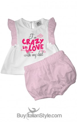 """Baby set """"I'm crazy in love with my dad"""""""